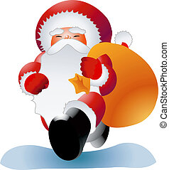 Santa 1 - A clipping path is included in the JPG document,...