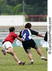 Rugby in action