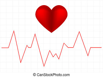 Heart beat graph - Illustration depicting a graph from a...