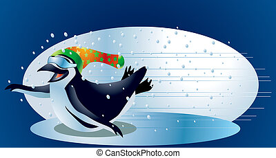 Penguins #2 - A clipping path is included in the JPG...