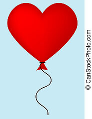 Red Balloon - An illustration of a plain red balloon.