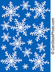 snowflakes - Snowflakes illustration against blue background...
