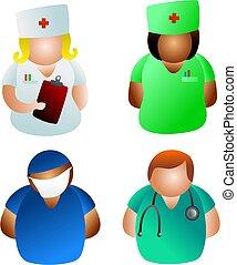 doutores, enfermeiras