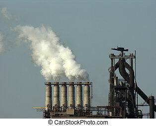 polution - factory with smoke