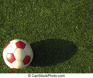 soccer bal on a green field