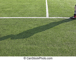 soccer - shadow of a soccerplayer