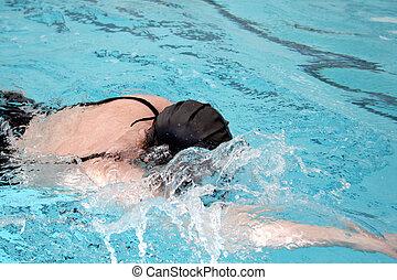 deporte, nadador, azul, deportes, Rápido, natación
