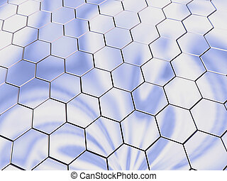 Platinum hexagons - Hexagonal chromic surface.