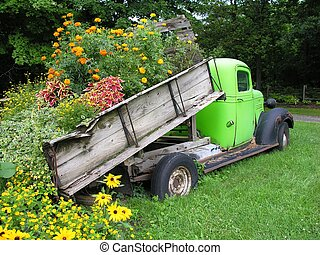 Truck load of flower - A Truck load of flowers
