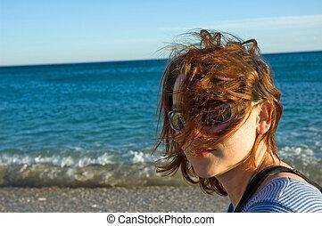 sea and sun - portrait