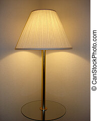 Two Spots of Light from One Floor Lamp in a Room Corner
