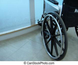 Emergency Wheel Chair - soft focus wheel chair