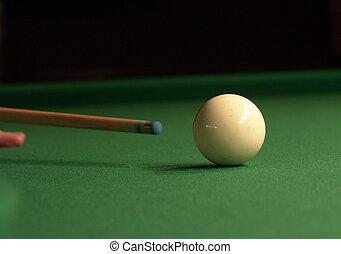 cue shot - a pool cue shot