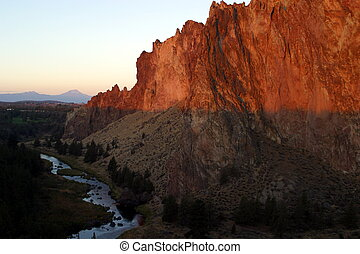Smith Rock Sunrise - Sunrise at Smith Rock State Park,...