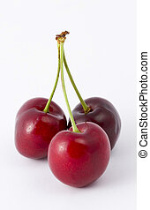 Cherries - Three cherries on their stalks