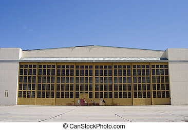 Giant Airplane Hangar - A big hangar on Alameda.
