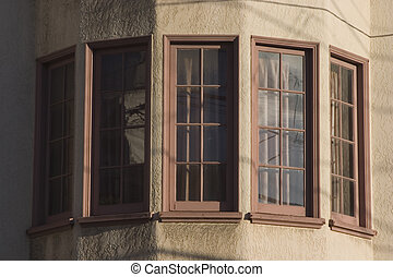 Bay Windows - Bay windows round out the view from a San...