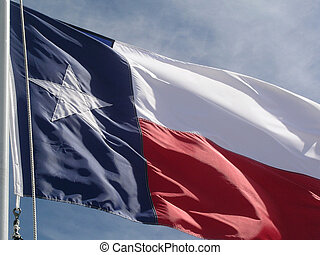 Texas Flag - Close up of Texas flag
