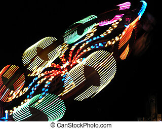 night ride - adstract photo of carnical ride.