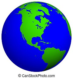 Earth Globe - North America