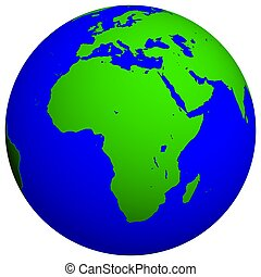 Earth Globe - African continent