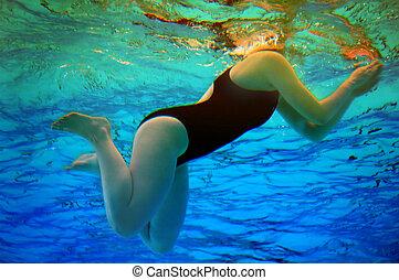 Swimming - Women swimming in the pool