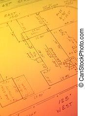 Real Estate Survey - Old real estate survey. Original...
