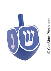 Dreidel - Isolated Blue Dreidel
