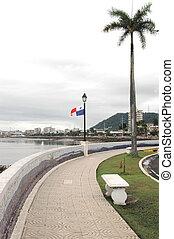 panama 624 - view of casco viejo from balboa park panama...