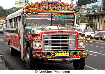 panama 609 - commuter bus panama city panama