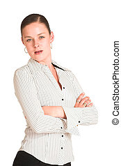 Charmaine Shoultz #22 - Business woman dressed in a white...