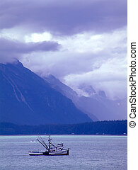 fishing boat near Haines,Alaska.