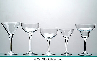 five glasses - five chalice glasses - 1