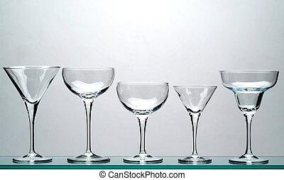 five glasses - five chalice glasses - 1