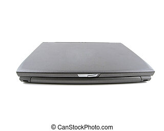 Closed laptop - Closed gray laptop isolated