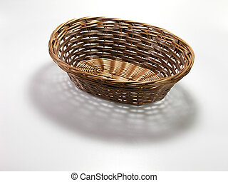Basket Weave - empty straw basket and pattern shadow