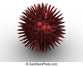 Bloood - 3d rendered image of a blood-cell. high quality.
