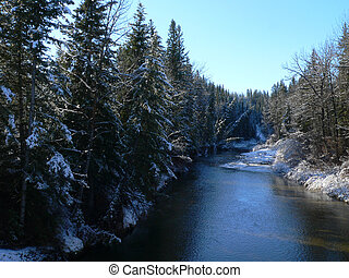 Creek After Snowfall - Fish Creek after a snowfall Fish...