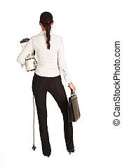 Charmaine Shoultz #28 - Business woman dressed in a white...