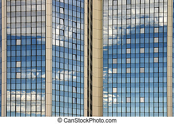 modern building - Detail of a shiny office building with...