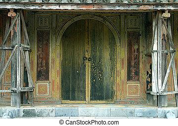 Old Vietnamese door