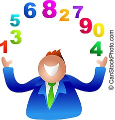 juggling numbers - business man