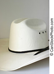Cowboy Hat - White hat over off white