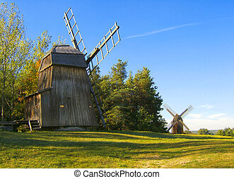 windmills - two windmills