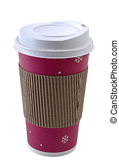 Disposable Coffee Cup - A colorful disposable coffee cup...