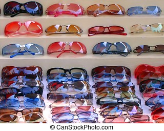 Sunglasses for Sale - -- at a street market