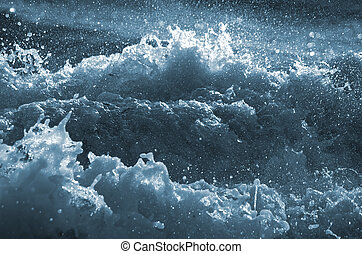 Troubled Waters - Coastal tide, England