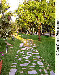 paved pathway - garden pathway