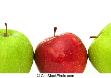 Odd One Out - Three apples