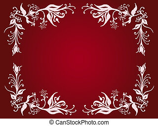 Ornate border - Decorative flowery border